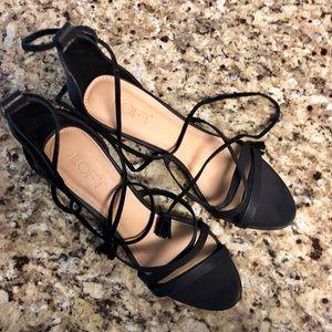 Tassel Tie Anne Taylor Loft Strappy Heels